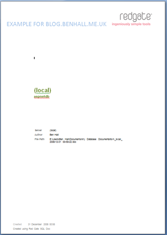 cover page doc