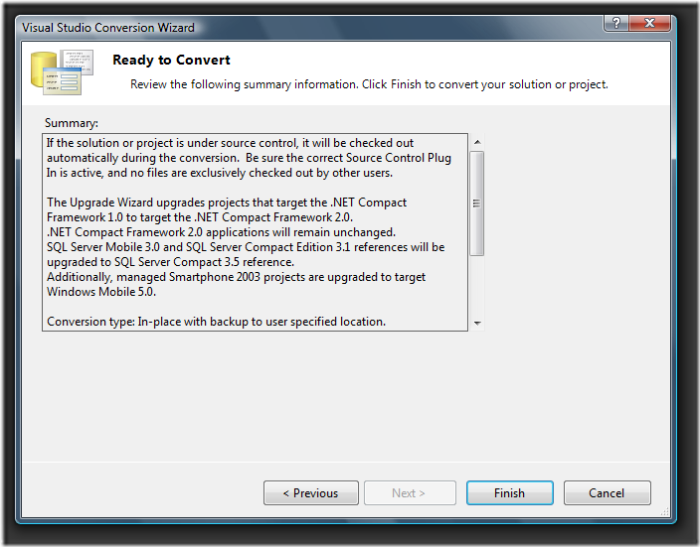 Visual Studio Conversion Wizard (3)