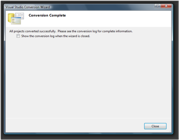 Visual Studio Conversion Wizard (4)