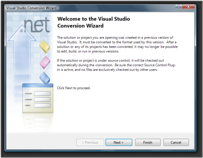 Visual Studio Conversion Wizard