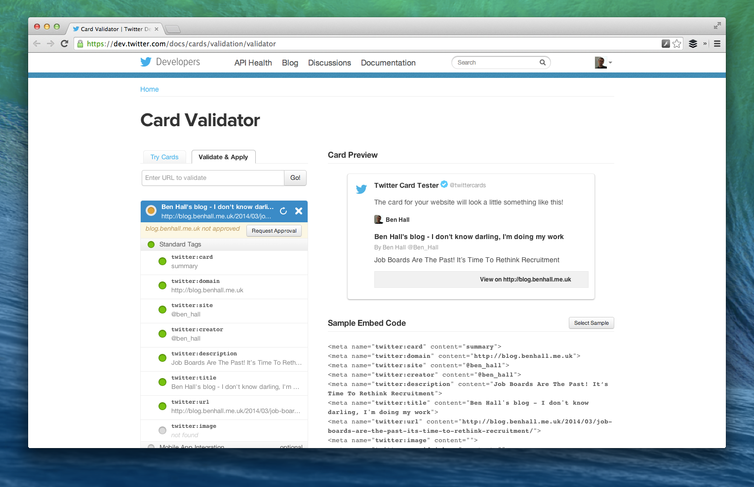 Card Validator | Twitter Developers-3