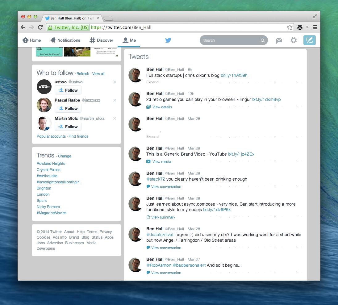 Twitter with round avatars