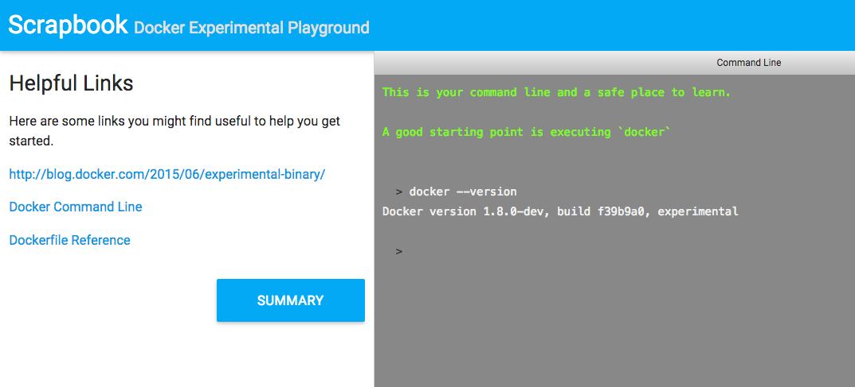 Docker experimental binary on Scrapbook